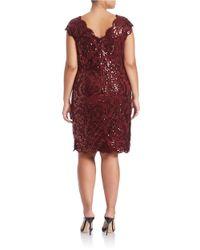 Tadashi Shoji | Lace-embroidered Sheath Dress | Lyst
