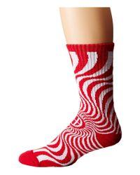 Huf - Red X Spitfire Swirl Sock - Lyst