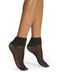 Chelsea28 Nordstrom - Black Ruffle Anklet Socks - Lyst