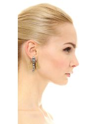 Elizabeth Cole - Metallic Crystal Embellished Stud Earrings - Crystal - Lyst