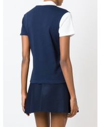 Jacquemus - Blue Contrast Sleeve T-Shirt - Lyst