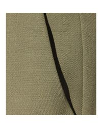 Etro - Green Wool-crêpe Trousers - Lyst
