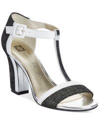 Anne Klein - White Cristyn T-Strap Sandals - Lyst