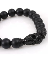 Lucifer Vir Honestus | Black Onyx Bead Skull Bracelet for Men | Lyst