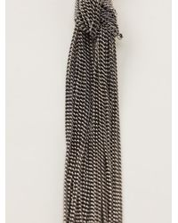 Ann Demeulemeester - Metallic Tassel Necklace - Lyst