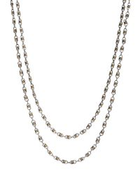 Lucky Brand | Metallic Two-tone Double Layer Necklace | Lyst