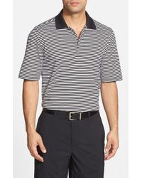 Bobby Jones | Black 'Flag Stripe' Tailored Fit Pima Cotton Golf Polo for Men | Lyst