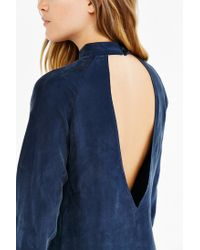 Blq Basiq - Blue Backless Mock-neck Dress - Lyst