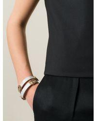 BVLGARI | Metallic Double Wrap Bracelet | Lyst