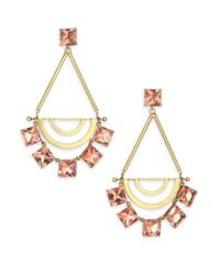 Tory Burch | Metallic Open Jeweled Statement Earrings | Lyst