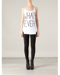 BLK OPM - White Whatever Tank Top - Lyst
