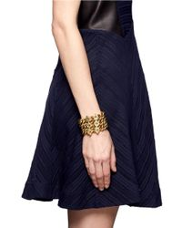Ela Stone | Metallic Paloma Geometric Charm Triple Strand Bracelet | Lyst