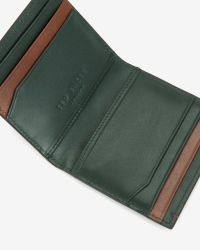 Ted Baker - Blue Striped Leather Bi-Fold Wallet for Men - Lyst
