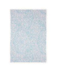 Chloé - Blue Animal Dot Print Silk-cashmere Scarf - Lyst