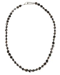 Shebee - Brown Skull Necklace - Lyst
