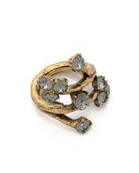 Oscar de la Renta - Crystal Branch Ring - Black Diamond - Lyst