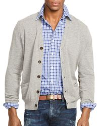Ralph Lauren | Gray Polo Merino V-neck Cardigan for Men | Lyst