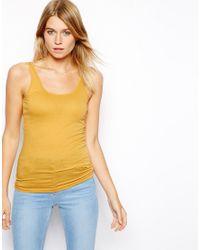 ASOS - Yellow Vest with Scoop Neck - Lyst