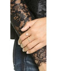 Blanca Monros Gomez | Metallic Flat Seed Pave Diamond Ring - Gold/white Diamond | Lyst