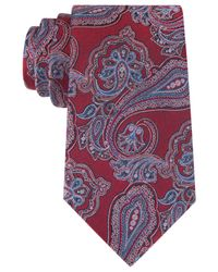 Tommy Hilfiger | Red New Paisley Tie for Men | Lyst