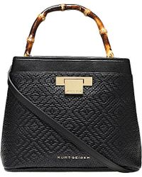 Kurt Geiger - Black Kate Textured-leather Bag - Lyst