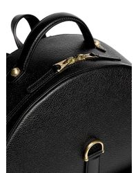 Thom Browne - Black Stripe Lining Grainy Leather Backpack for Men - Lyst