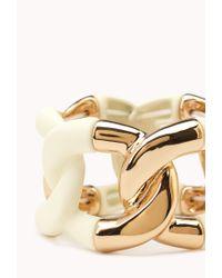 Forever 21 - Natural Sleek Curb Chain Bracelet - Lyst