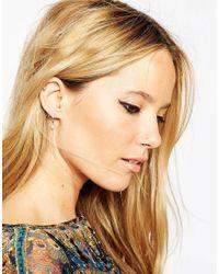 ASOS | Metallic Limited Edition Moon & Star Swing Earrings | Lyst