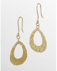 Lord & Taylor | Metallic Hammered Teardrop Earrings | Lyst