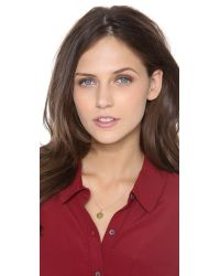Sarah Chloe | Metallic Eva Engraved Pendant Necklace - F | Lyst