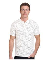 Ben Sherman - White Geo Print Regular Fit Polo Shirt for Men - Lyst