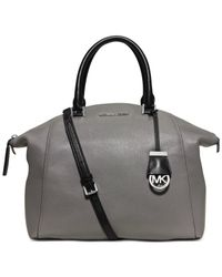 Michael Kors | Gray Michael Riley Large Satchel | Lyst