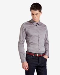 Ted Baker | Brown Fil Coupé Shirt for Men | Lyst