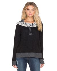 Gypsy 05 - Black French Terry Cowl Neck Hoodie - Lyst
