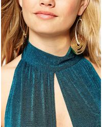 ASOS - Metallic Swirling Disc Earrings - Lyst