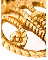 Nina Ricci | Metallic Logo Clip-on Earrings | Lyst