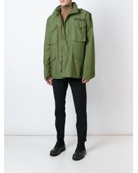 Iceberg - Green Embroidered Back Parka for Men - Lyst