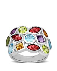 Lord & Taylor | Metallic Sterling Silver Multi-stone Ring | Lyst