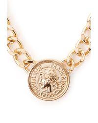 Forever 21 - Metallic Coin Chain Choker - Lyst