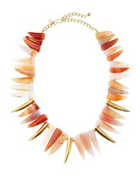 Kenneth Jay Lane - Multicolor Agate Tooth Necklace - Lyst