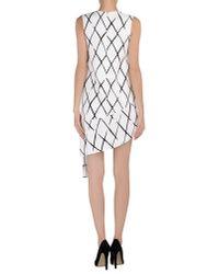 Balenciaga - White Short Dress - Lyst