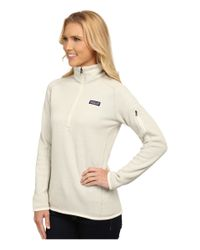 Patagonia - White Better Sweater 1/4 Zip - Lyst