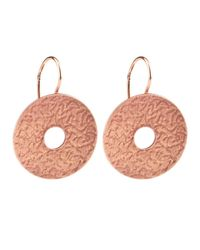 Dutch Basics | Metallic Coins Earrings Rose Gold | Lyst