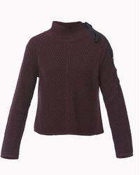 Veronica Beard | Purple Auger Tie Neck Sweater | Lyst