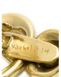 Vaubel - Metallic Interlocking Hoop Clip Earrings - Lyst