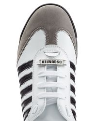 DSquared² | Leather Tennis Club Sneakers - White for Men | Lyst