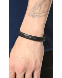 Caputo & Co. - Black Braided Leather Bracelet for Men - Lyst