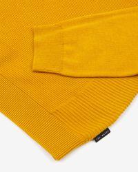 Ted Baker - Yellow Crew Neck Jumper for Men - Lyst
