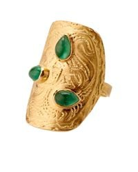 Aurelie Bidermann | Green Amérindienne Emerald & Yellow-Gold Ring | Lyst