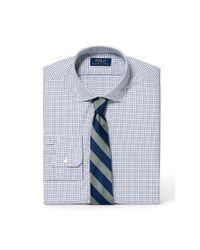 Polo Ralph Lauren - Blue Slim Tattersall Poplin Shirt for Men - Lyst